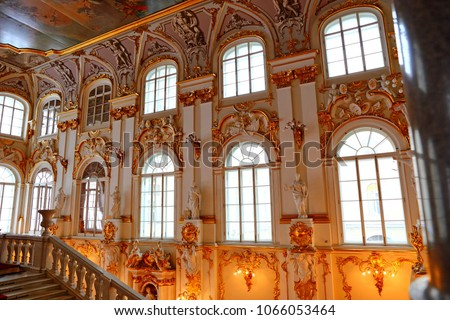 Jordan Staircase of the Winter Palace Hermitage Museum St. Petersburg Russia #1066053464