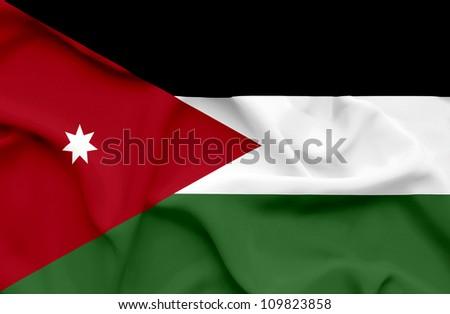Jordan waving flag