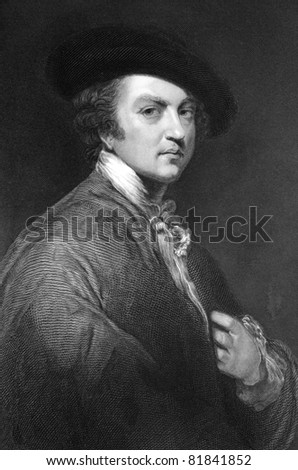 Joshua Reynolds (1723-1792). Engraved by T.W.Hunt and published in The National Portrait Gallery Of Illustrious And Eminent Personages encyclopedia, United Kingdom, 1835.