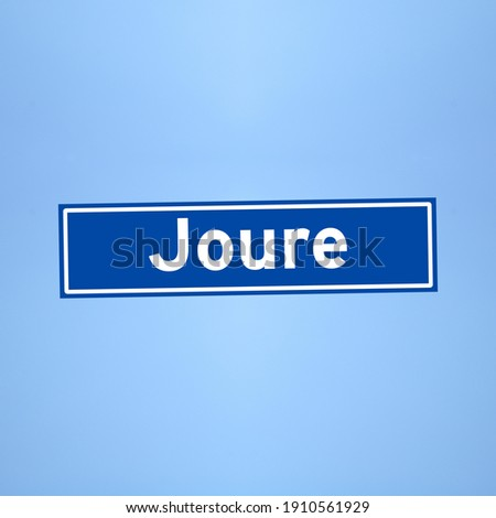 Joure place name sign in the Netherlands Photo stock ©
