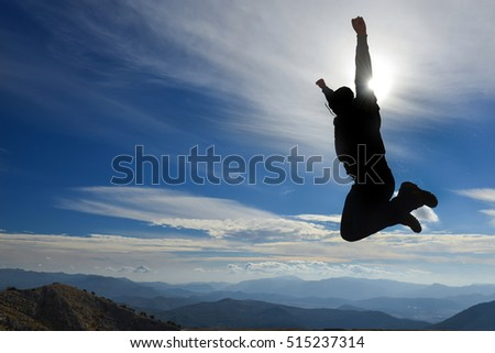 joy and enthusiasm of reaching the summit #515237314