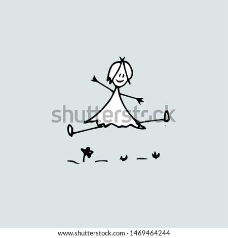 Joy Idea, drawing of a joyful girl