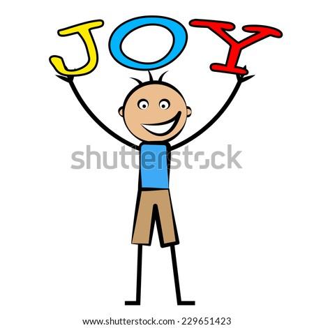 Joy Kids Representing Positive Joyful And Jubilant