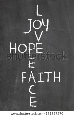 Joy Love Hope Peace and Faith