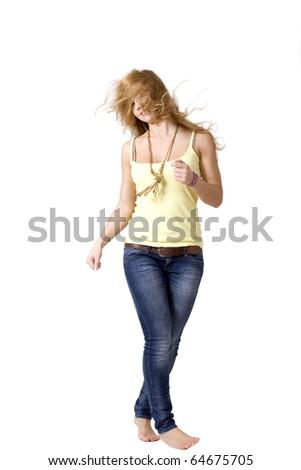 Joyful girl - stock photo