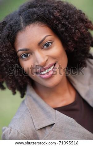 Joyful woman smiling