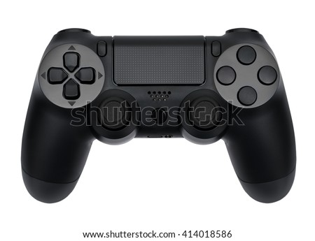 Joystick on white background, isolated close-up - Shutterstock ID 414018586