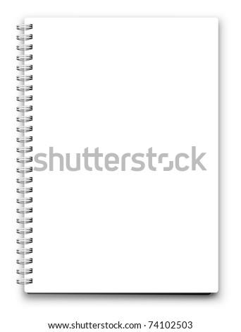 jpeg blank notebook isolated on white. jpg