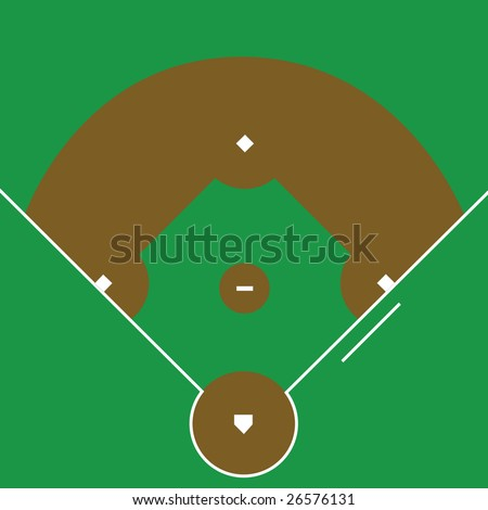 Jpeg illustration of an overhead view of a baseball diamond