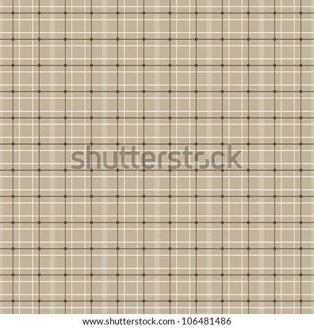 JPEG seamless retro plaid background pattern in pale coffee color. See my portfolio for other colors and for vector version of this plaid - Set of 4 Vector Plaids in Neutral Colors.