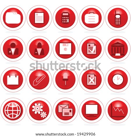 Jpeg set of business icons web buttons