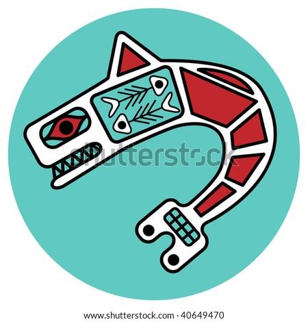 jpeg symbolic design in pacific northwest native style.