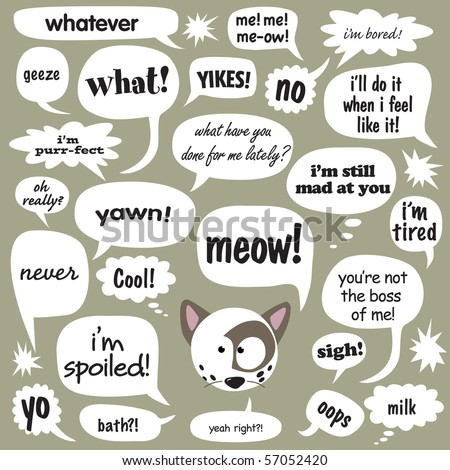 Jpeg Various phrases in comic balloons 1