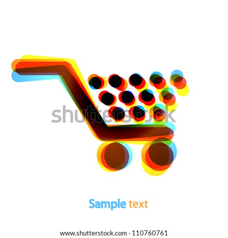 Jpeg version. abstract shopping icon on white background