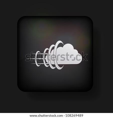 Jpeg version. cloud icon on black