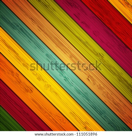 Jpeg version. colorful wooden background. vector version also in portfolio - stock photo