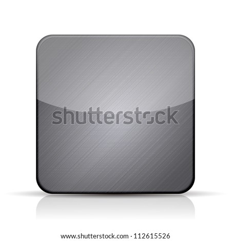 Jpeg version. metal app icon on white background
