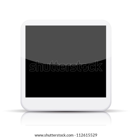 Jpeg version. photo app icon on white background - stock photo