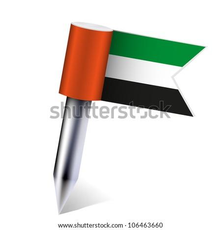 jpeg version. United Arab Emirates flag isolated on white