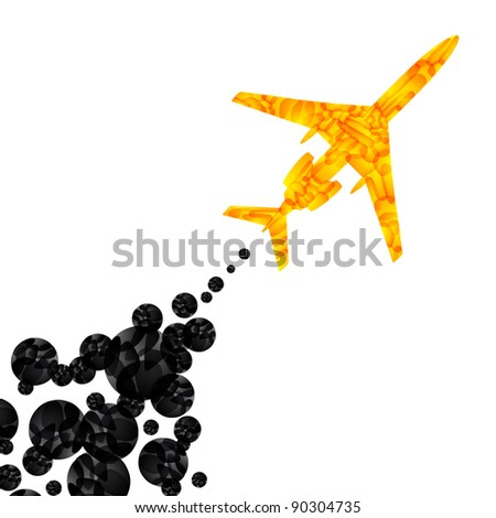 jpg, airplane, vector abstract background