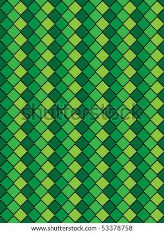 Jpg, green variegated diamond snake style wallpaper texture pattern.