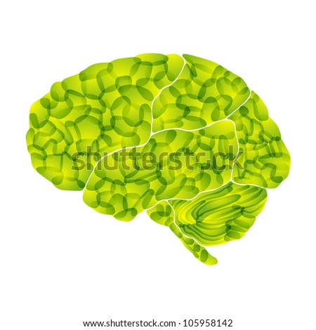 jpg, human brain, light green aura, abstract background