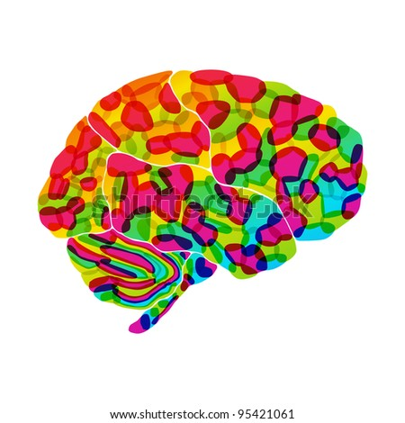 jpg, human brain, rainbow dream, abstract background