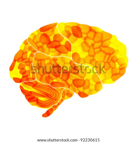 jpg, human brain, solar thoughts, abstract background