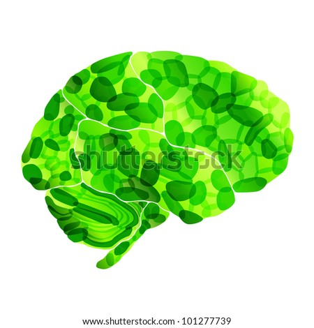 jpg, human organic brain, abstract background - stock photo