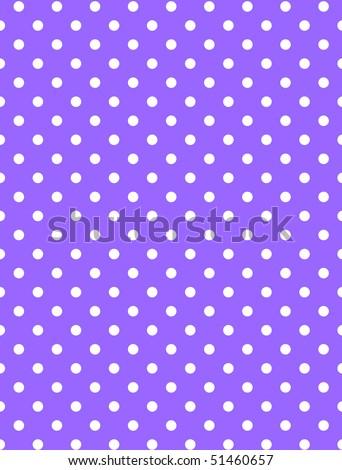 Jpg.  Purple background with white polka dots.