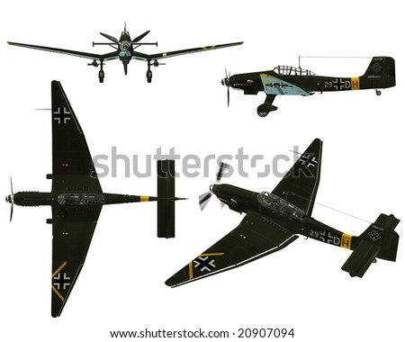 JU87D Stuka - Dive bomber from the World War II