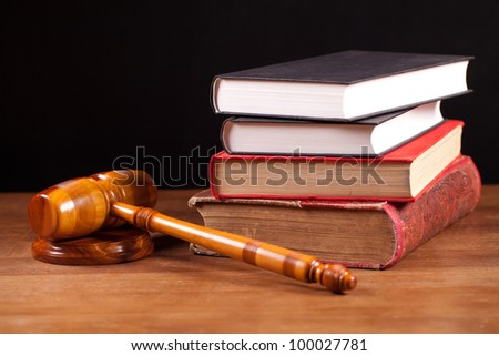 judge gavel and books