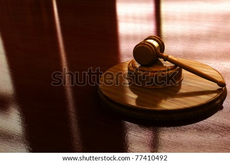 Judge gavel with lighted background, 300 D.P.I