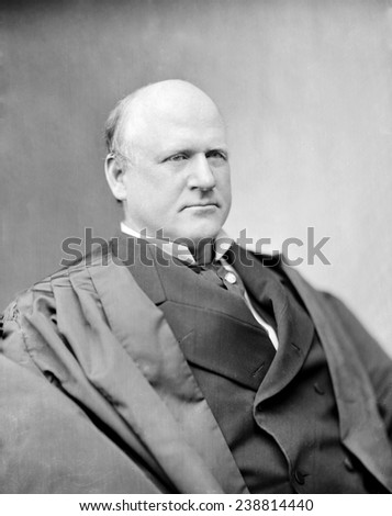 Judge John Marshall Harlan, Justice of the Supreme Court. He was the lone dissenter to the decision of Plessy v. Ferguson, which upheld he constitutionality of racial segregation. ca. 1865-1880