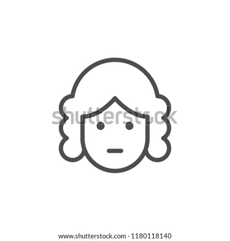 Judge line icon isolated on white