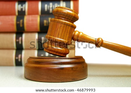 judges court gavel and stacked law books