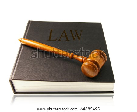 judges court gavel on a lawbook