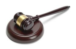 Judges Mallet Gavel Isolated on White Background.