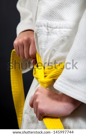 Judo yellow belt