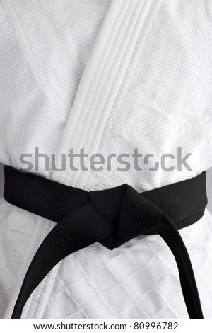 Judogi with black belt