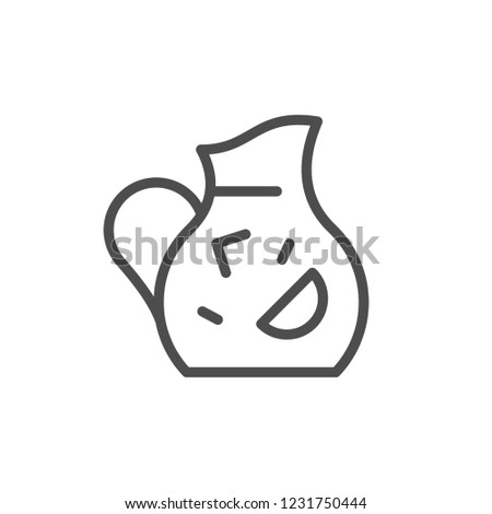 Jug line icon isolated on white