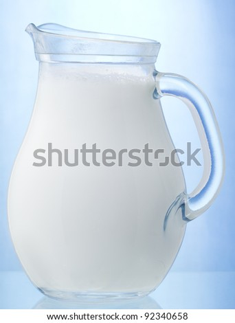 jug of fresh milk - stock photo