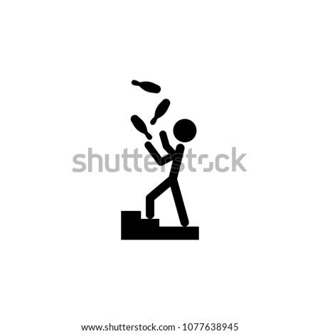 Juggler Icon Element Of Theater And Art Illustration Premium