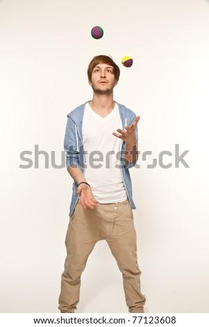 juggling balls - stock photo