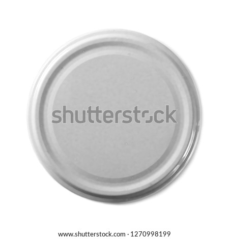 Juice bottle lid isolated on white background, top view Stockfoto ©