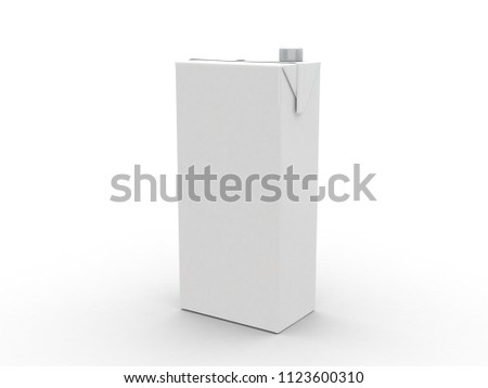 juice box Isolated on white background. Retail package mockup set 3d Illustration