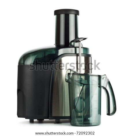 juice extractor isolated on white background, front view