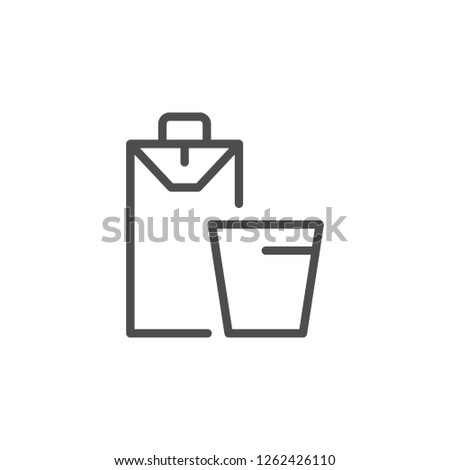 Juice line icon isolated on white