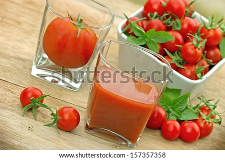 Juice of fresh cherry tomatoes