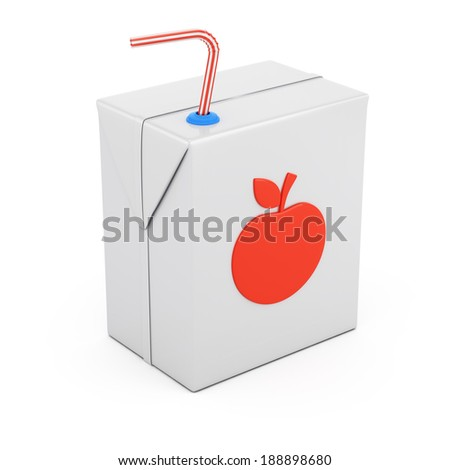 Juice package isolated on white background. 3d rendering illustration
